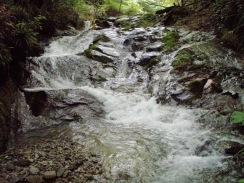 08曲がって落ちる4段のナメ滝09-6-26