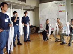 01三角巾の折りかた講習09-9-27