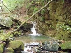 04右岩壁の小滝の大淵09-9-29