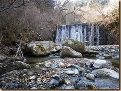 01第1堰堤下流の大石のプール11-3-29