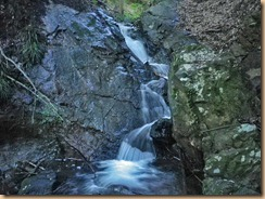 02四段に曲がって落ちるナメ滝11-6-29