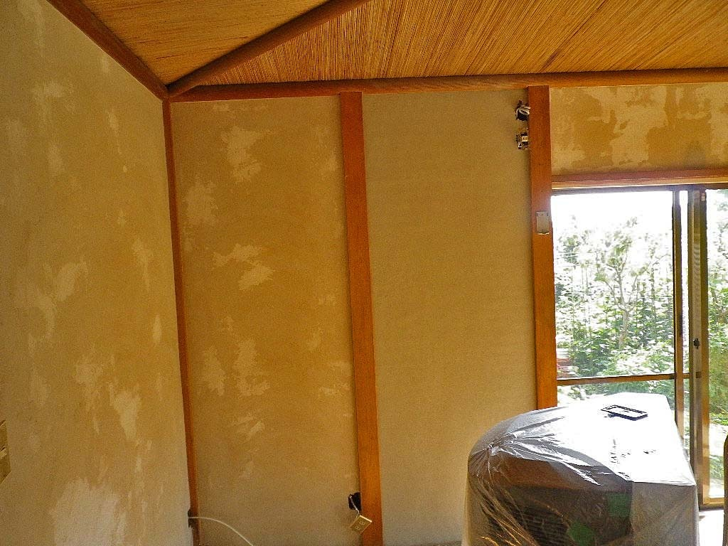防音工事和室8畳の砂壁下塗り 野菜渓読