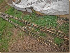 05笹竹支柱を廃油で防虫処理14-12-4